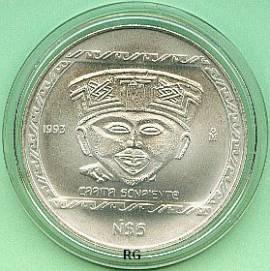 Briefmarken Münzen Am Dom 5 Pesos Mexiko 1993 Lächelndes