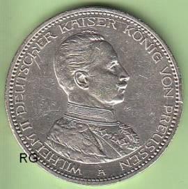 Briefmarken Münzen Am Dom Mi29 5 Mark Preußen 1914