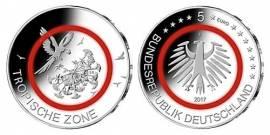 Deutschland 5 € Tropische Zone - G - Karlsruhe (Polymer) 2017 stgl.