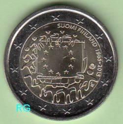 2 Euro Finnland 2015 - 30 Jahre Europaflagge - bfr.