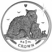 Isle of man 1 crown 2015 Selkirk Rex Katze