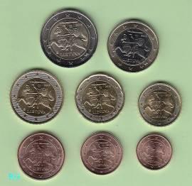 Litauen KMS 2015 - Erster Satz in Euro! - bfr. (lose) -
