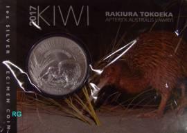 Neuseeland 1 Dollar Kiwi 2017 stgl. - (Blister)