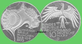 Briefmarken Münzen Am Dom 10 Dm Olympiade Olympiagelän