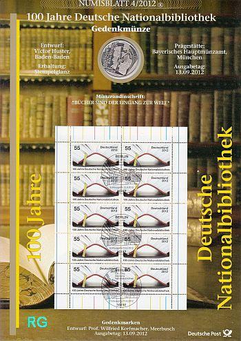 Numisblatt 42012 100 Jahre Deutsche Nationalbibliothek