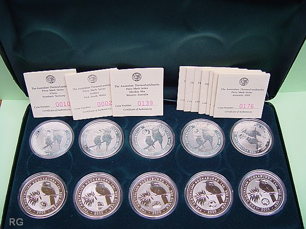 Briefmarken Münzen Am Dom 1999 2000 Kookaburra 1 Silver