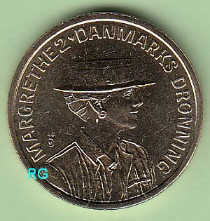 Briefmarken Münzen Am Dom Dänemark 20 Kroner 1990 50 Geburtstag