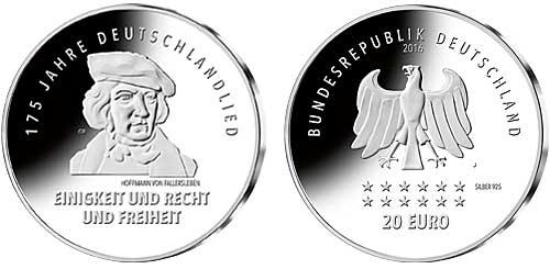 Briefmarken Münzen Am Dom Deutschland 20 Euro 175 Jahre