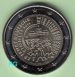 2 Euro Deutschland 2015 25 Jahre Deutsche Einheit F Bfr