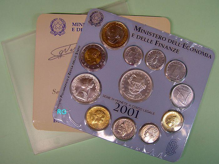 Briefmarken Münzen Am Dom Italien Kursmünzensatz 2001 3388
