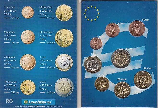 Lettland Kms 2014 Erster Satz In Euro Bfr Im Sammelfolder