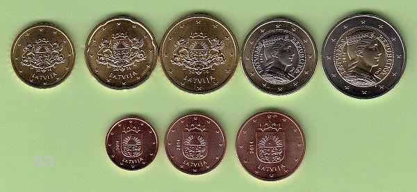 Briefmarken Münzen Am Dom Lettland Kms 2014 Erster Satz