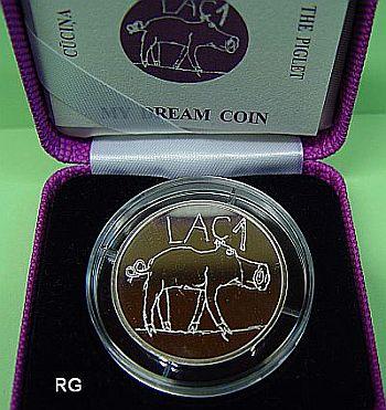 Briefmarken Münzen Am Dom Lettland 1 Lats Das Ferkel