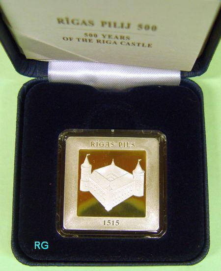 Briefmarken Münzen Am Dom Lettland 5 2015 500 Jahre Schloss