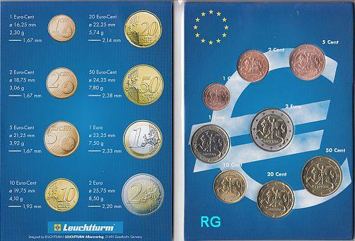 Briefmarken Münzen Am Dom Litauen Kms 2015 Erster Satz