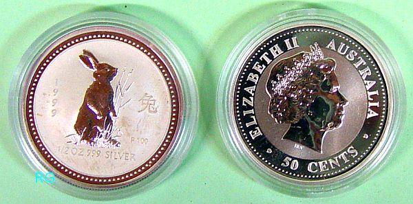 Briefmarken Münzen Am Dom Australien 50 Cent Jahr Des Hasen
