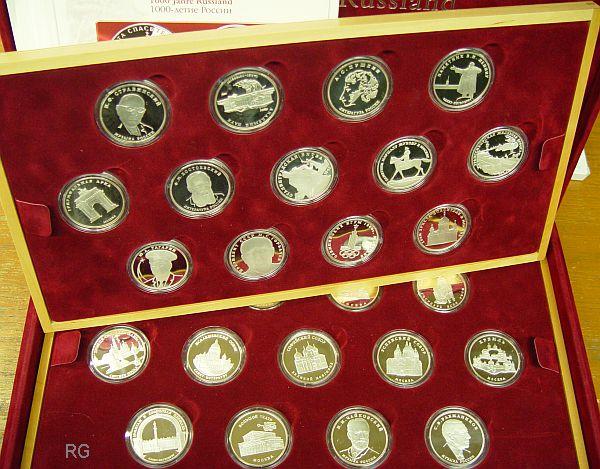 Briefmarken Münzen Am Dom Medaillen Serie 1000 Jahre Russland