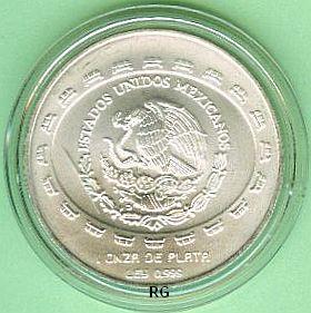 Briefmarken Münzen Am Dom 5 Pesos Mexiko 1997 Totensche