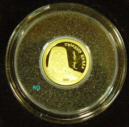 Briefmarken Münzen Am Dom Mongolei 1000 Tögrög 2014 Dschingis