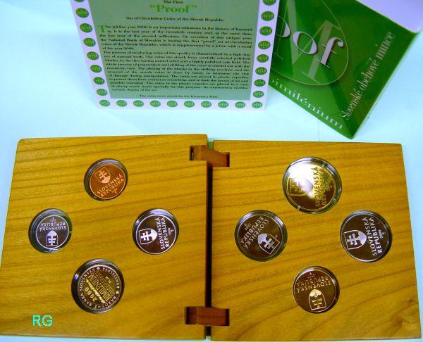 Briefmarken Münzen Am Dom Slowakei Kms 2000 Millenium