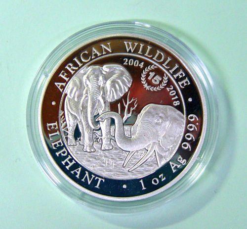 Briefmarken Münzen Am Dom Somalia 100 Shillings Elefantenmotiv