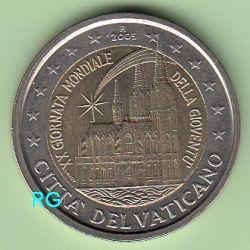 2 Euro Vatikan 2005 Weltjugendtag In Köln Kapsel