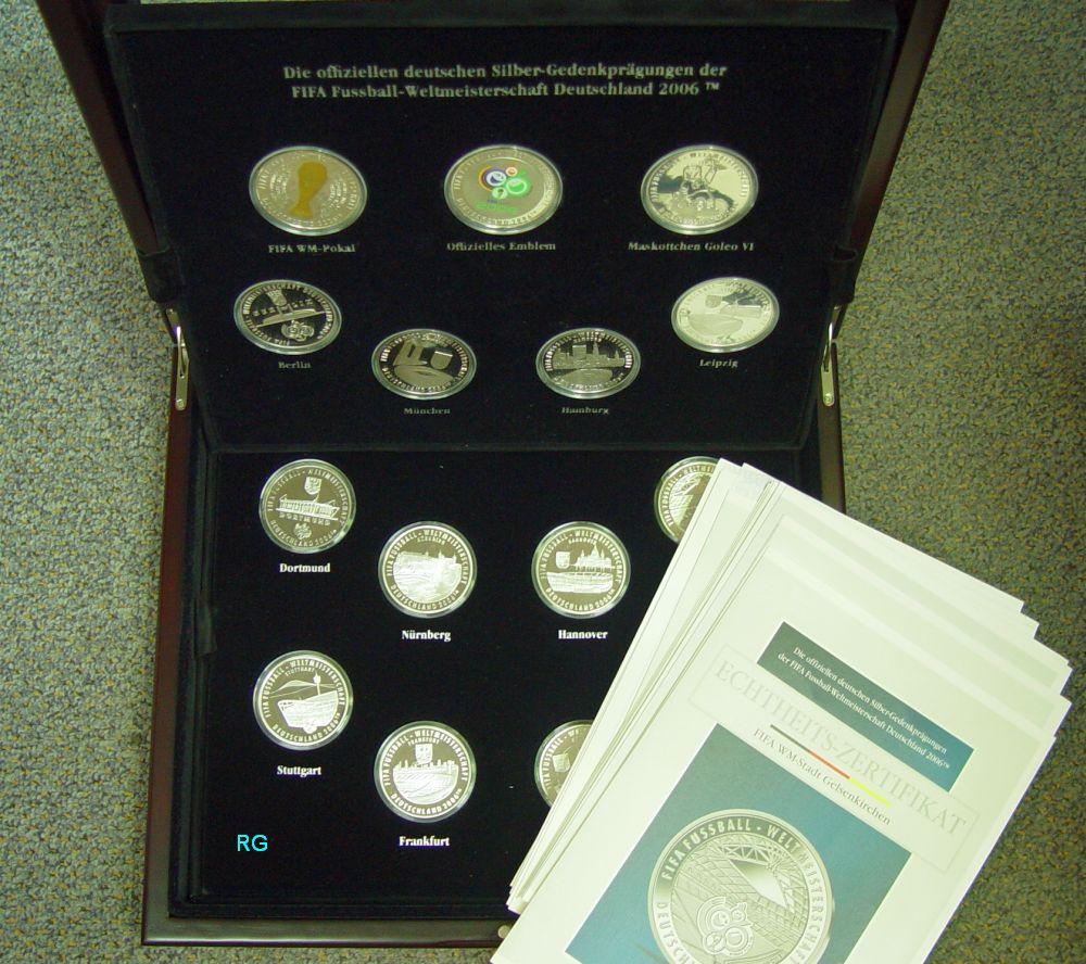 Medaillen Serie Fussball Wm 2006 15 X Sterlingsilber Gesamt 323 G