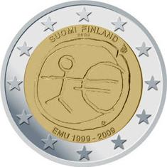 Briefmarken Münzen Am Dom 2 Euro Finnland 2009 10 Jahre