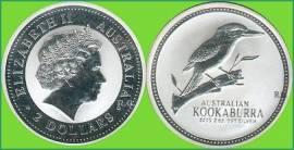Australien 2 $ Kookaburra 2003 2 oz - Bild vergrößern