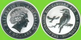 Australien 2 $ Kookaburra 2004 2 oz - Bild vergrößern