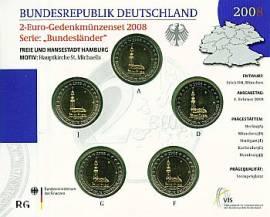 2 Euro Deutschland 2008 Hamburger Michel - Blister Stgl. - - Bild vergrößern