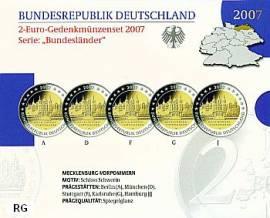 2 Euro Deutschland 2007 Schloss Schwerin -Blister PP - - Bild vergrößern