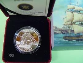 Kanada 10 $ 2012 - Schiff HMS Shannon / Krieg von 1812 - Proof - Bild vergrößern