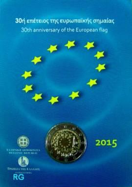 2 € Griechenland 2015 - 30 Jahre EU-Flagge - Blister - Bild vergrößern
