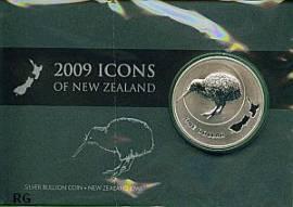 Neuseeland 1 Dollar Kiwi 2009 stgl. im Blister - Bild vergrößern