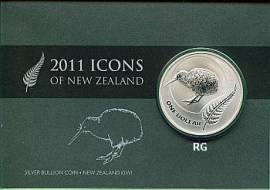 Neuseeland 1 Dollar Kiwi 2011 stgl. im Blister - Bild vergrößern