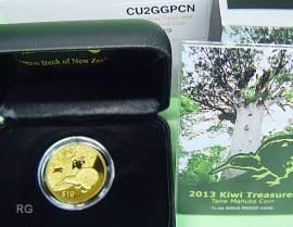 10 $ Neuseeland 2013 - Kiwi - Gold - Bild vergrößern