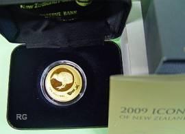 10 $ Neuseeland 2009 - Kiwi - Gold - Bild vergrößern