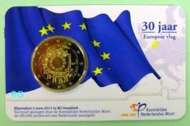 2 Euro Niederlande 2015 - 30 Jahre Euopaflagge - stgl. Coincard - Bild vergrößern
