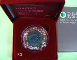 Österreich 25 € Niob 2014 - Evolution - - Bild vergrößern