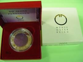 Österreich 25 € Niob 2005 - 50 Jahre Fernsehen - - Bild vergrößern