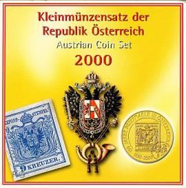 Österreich Kursmünzensatz 2000 stgl - Bild vergrößern