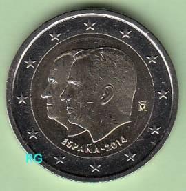 2 € Spanien 2014 - Proklamation von Felipe IV.  bfr. - Bild vergrößern