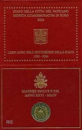 2 Euro Vatikan 2004 75 Jahre Vatikan - Bild vergrößern