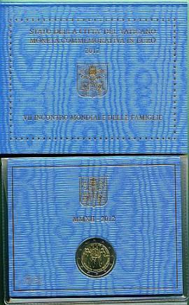 2 Euro Vatikan 2012 Weltfamilientreffen Mailand - Bild vergrößern