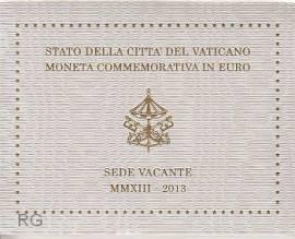 2 Euro Vatikan 2013 Sede Vacante - Bild vergrößern