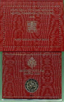 2 Euro Vatikan 2008 Paulusjahr - Bild vergrößern