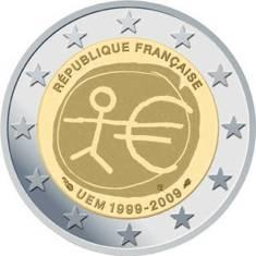 2 €  Frankreich 2009 - Wirtschafts- u. Währungsunion - Produktbild