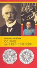 5 Euro  Österreich 2007 - 100 Jahre Wahlrechtsreform - im Blister