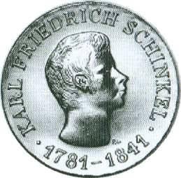 10 Mark DDR 1966 - 125. Todestag Karl Friedrich Schinkel - stgl.
